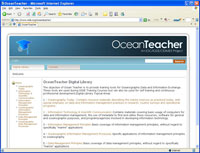 OceanTeacher home page, new version