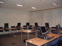 One of the training rooms